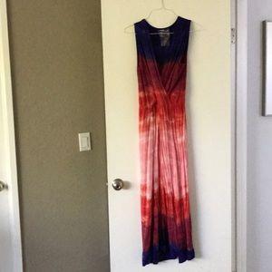 Ombré tie dye maxi dress